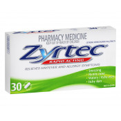 Zyrtec Rapid Acting 10mg 30 Mini Tablets
