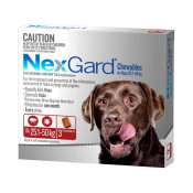 Nexgard Chewables For Dogs 25.1-50kg 3 Pack