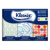 Kleenex To Go Ultra Soft 6 Individual Packs with 9 Tissues