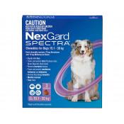 Nexgard Spectra Chewable for Dogs 15.1-30kg 3 Pack