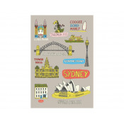 KE Design Tea Towel Sydney Collage