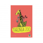 KE Design Tea Towel Taronga Zoo Pale Red