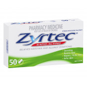 Zyrtec Rapid Acting 10mg 50 Mini Tablets