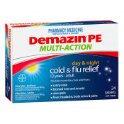 Demazin PE Multi-Action Day & Night Cold & Flu Relief 24 Tablets