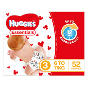 Huggies Essentials Nappies Size 3 52 Pack