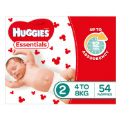 Huggies Essentials Nappies Size 2 54 Pack