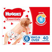 Huggies Essentials Nappies Size 6 40 Pack