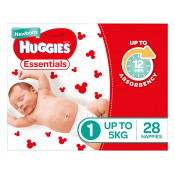 Huggies Essentials Nappies Size 1 28 Pack