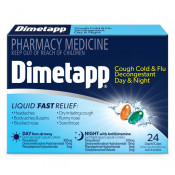 Dimetapp Day+Night Cough, Cold & Flu with Decongestant 24 Liquid Capsules