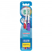 Oral B Toothbrush Fresh Clean Medium 2 Pack