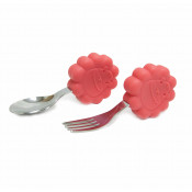 Marcus & Marcus Palm Grasp Fork & Spoon Set Marcus Lion Red