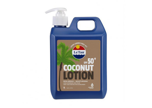 Le Tan SPF50+ Coconut Sunscreen 1 Litre