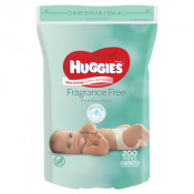 Huggies Baby Wipes Refill Unscented 200 pack