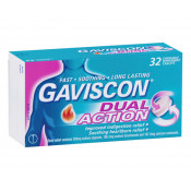 Gaviscon Dual Action Peppermint 32 Chewable Tablets