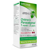 APOHEALTH Childrens Paracetamol 100mg/ml 1 Month to 2 Years 20ml
