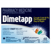 Dimetapp PE Day+Night Cough, Cold & Flu with Decongestant 48 Capsules