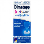 Dimetapp Kids Cold & Allergy Colour Free 6 Years & Over 200ml