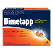 Dimetapp Multi Symptom Cold & Flu 24 Liquid Caps