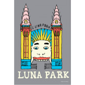 KE Design Tea Towel Luna Park Grey