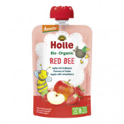 Holle Organic Pouch Red Bee Apple with Strawberry 100g