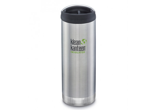 Klean Kanteen TKWide Insulated 473ml Cafe Cap Bottle Brushed Stainless