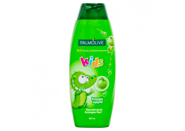 Palmolive Kids 3in1 Hypoallergenic Shampoo, Conditioner & Body Wash Apple 350ml