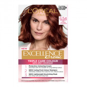 L'Oreal Excellence Creme 6.54 Light Mahogany Copper Brown Hair Colour