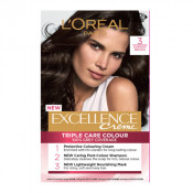 L'Oreal Excellence Creme 3 Darkest Brown Hair Colour