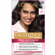 L'Oreal Excellence Creme 2 Blackest Brown Hair Colour