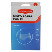 Surgical Basics Disposable Pants Large 5 Pack