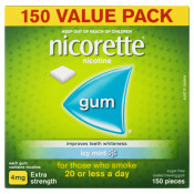 Nicorette Gum 4mg Extra Strength Coated Icy Mint 150 Pieces Value Pack
