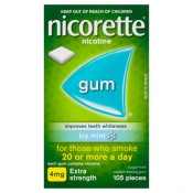 Nicorette Gum 4mg Extra Strength Coated Icy Mint 105 Pieces