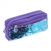 Moki Pat Me! 2 Way Sequin Purple Pencil Case