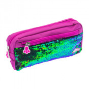Moki Pat Me! 2 Way Sequin Pink Pencil Case