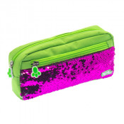 Moki Pat Me! 2 Way Sequin Green Pencil Case