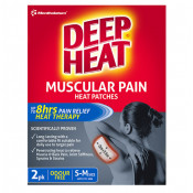 Deep Heat Patches Regular Odourless 2 Pack