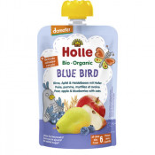 Holle Organic Pouch Blue Bird Pear, Apple & Blueberries with Oats 100g (Exp: 21 March 2021, no refunds or exchanges)