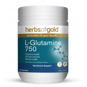 Herbs of Gold L-Glutamine 750 120 Capsules