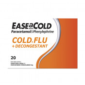 Ease a Cold PE Cold, Flu + Decongestant 20 Tablets