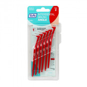TePe Interdental Brush Angle Red (ISO Size 2) 0.5mm 6 Pack