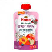 Holle Organic Pouch Berry Puppy Apple & Peach with Fruits of the Forest 100g