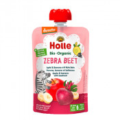Holle Organic Pouch Zebra Beet Apple & Banana with Beetroot 100g