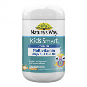 Natures Way Kids Smart Complete Multi + High DHA Fish Oil 99.9% Sugar Free 100 Capsules
