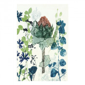 KE Design Linen Tea Towel Waratah