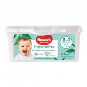Huggies Baby Wipes Unscented Tub 64 Pack
