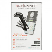 KeySmart Pro Tile Smart Location Tracking (up to 14 Keys) Black