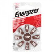 Energizer Hearing Aid Battery 312 8 Pack
