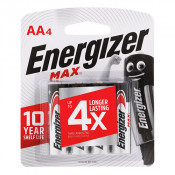 Energizer Battery Max E91 AA 4 Pack