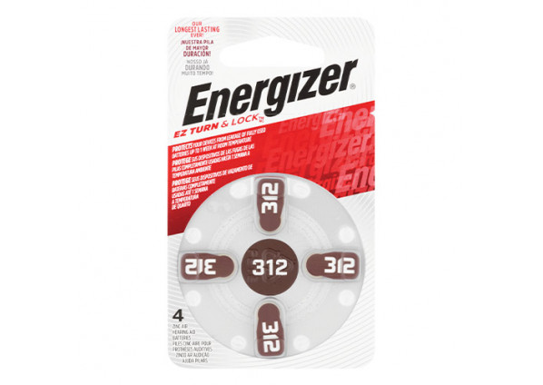 Energizer Hearing Aid Battery 312 4 Pack