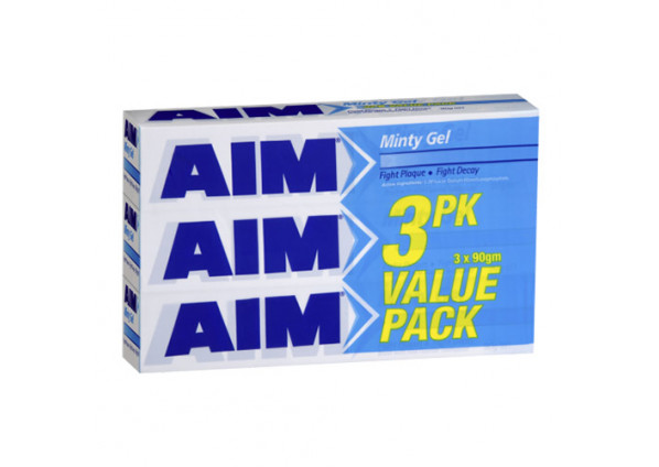 Aim Toothpaste Mint 90g x 3 Pack